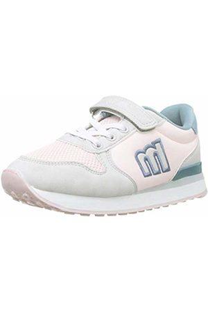 MTNG Girls Trainers - Girls' 47731 Low-Top Sneakers, Gris Claro/Nylon Nude/Tano Azul C45380