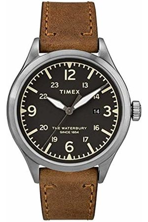 Timex Mens Analogue Classic Quartz Watch with Leather Strap TW2R71200