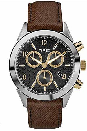 Timex Mens Chronograph Quartz Watch with Leather Strap TW2R90800