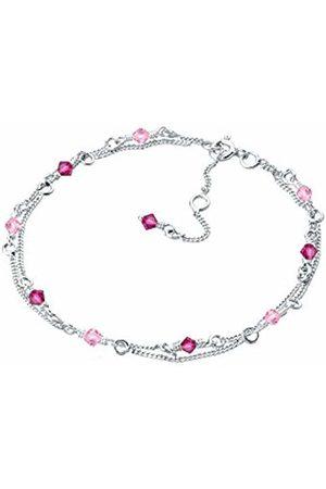 Elli Women's 925 Sterling Xilion Cut Bracelet of Length 18 cm