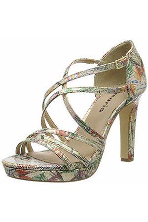 Tamaris Women's 1-1-28038-32 Flatform Sandals Flower 403