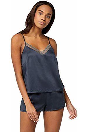 IRIS & LILLY AMZ19SSPJ02 Pyjamas for Women, (Dark )