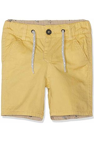 Kiss IKKS Baby Boys' Bermuda Reversible Jaune/ Moyen Imprime Cactus Shorts, Imprimé 61