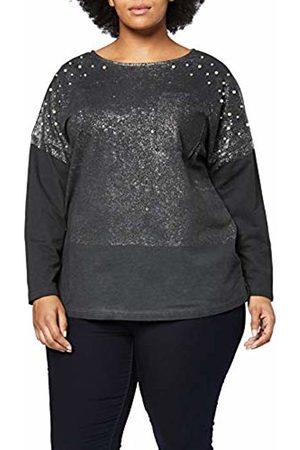 Ulla Popken Women's Plus Size Metallic Splatter Print Sweatshirt 24/26 718718 10-50+
