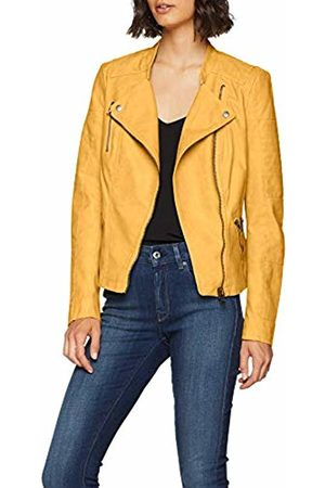 ONLY NOS Women's onlAVA Faux Leather Biker OTW NOOS Jacket, Gelb Yolk