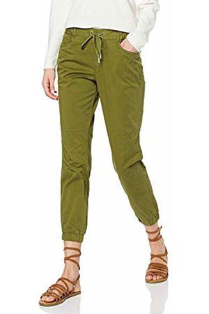 Tom Tailor Denim (NOS) Women's Cargo Hose Mit Einem Schmalen Beinabschluss Trouser, (Summer Leaf 11148)