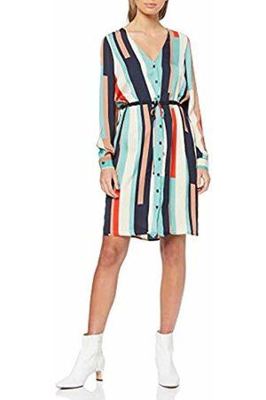 Vero Moda Women's Vmmatilda Ls Shirt Knee Dress WVN (Wasabi AOP:Comb) 12 (Size: Medium)