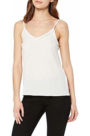 Vero Moda NOS Women's Vmsasha Lacey Singlet Color Vest Snow