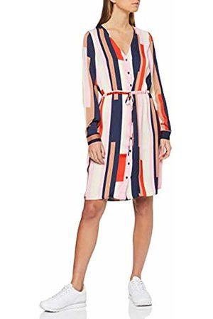 Vero Moda Women's Vmmatilda Ls Shirt Knee Dress WVN (Prism AOP:Comb) 10 (Size: Small)