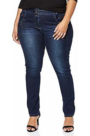 Ulla Popken Women's Plus Size Rhinestone Accent Stretch Curvy Jeans Dark 26 718942 92-52