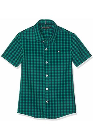 Tommy Hilfiger Boy's Essential Overdye Gingham S/s Blouse Dynasty 303