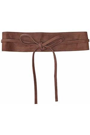 Pieces NOS Women's Pcvibs Leather Tie Waist Belt Noos Nougat)