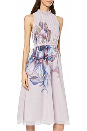 Little Mistress Women's Corina Floral Midi Dress with Frill Party