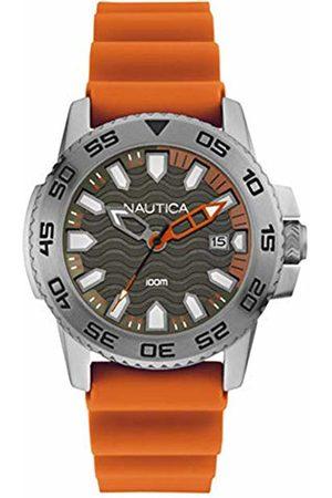 Nautica Mens Analogue Quartz Watch with Silicone Strap NAI12529G