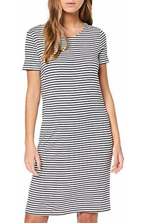 Pieces NOS Women's Pcbillo Ss Dress Noos (Bright Stripes: Maritime )