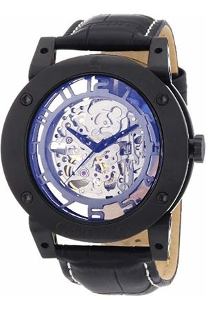 Carucci Watches Men's Automatic Watch Tavado II CA2207BK with Leather Strap