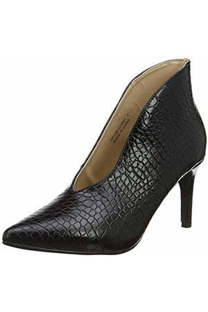 Lost Ink Women's Alyx Textured MID Heel Ankle Boot ( 0001)