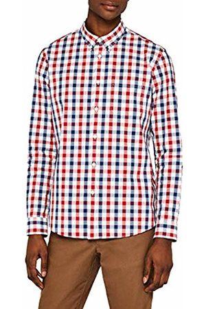 MERAKI Men's Cotton Regular Fit Checked Shirt