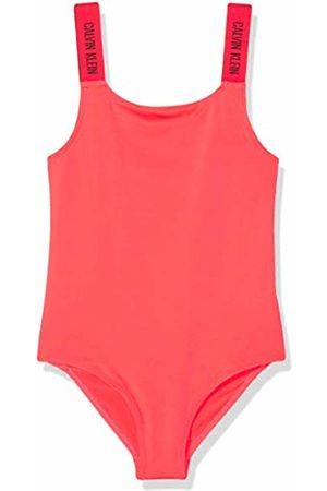Calvin Klein Girl's Swimsuit Swimsuit, (Diva 059)