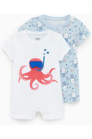 Zara 2-pack of octopus print sleepsuits