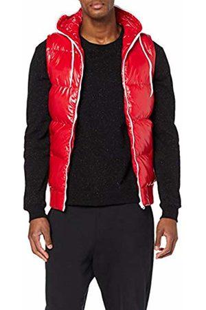 Urban classics Men's Hooded Bubble Vest Outdoor Gilet