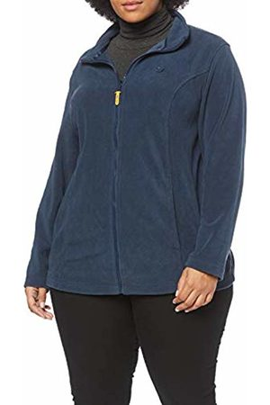 Ulla Popken Women's Plus Size Princess Seam Fleece Jacket Night 16/18 717948 69-42+