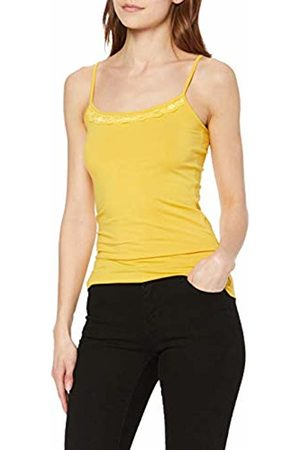Jacqueline de Yong NOS Women's Jdyava Singlet Lace Top JRS Noos Vest, Spicy Mustard