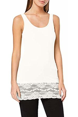 Jacqueline de Yong NOS Women's Jdyava Long Lace Top JRS Noos Vest, Cloud Dancer