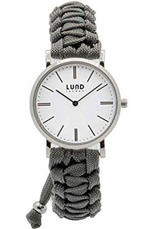 Lund London Unisex Adult Analogue Classic Quartz Watch with Textile Strap 9002