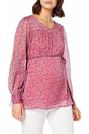 Mama Licious Women's Mlsahara L/s Woven Top Maternity Blouse (Claret AOP: Cendre /Navy Blazer) 14 (Size: Large)