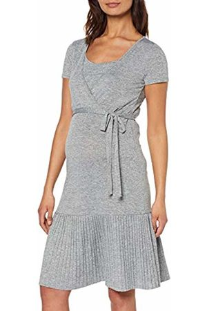 Mama Licious Women's Mlkada Tess S/s Jersey Abk Dress Nf. Medium Melange