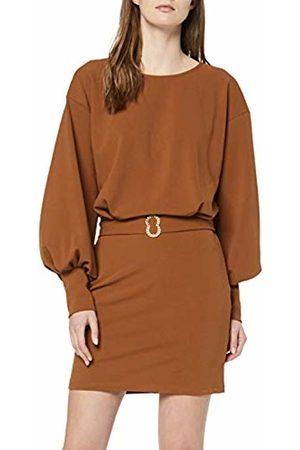Rinascimento Women's Cfc0016407002 Party Dress (Marrone Tabacco B376) 8 (Size: Small)