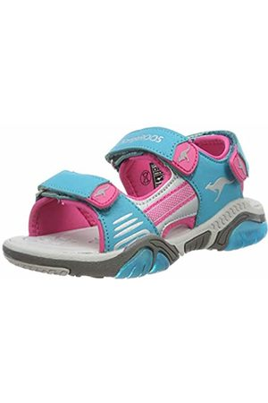 KangaROOS Kids' Sandalshine Closed Toe Sandals Blau (Turquoise/Daisy 4112) 1.5 UK
