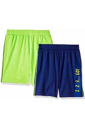 Spotted Zebra 2-Pack Active Mesh Shorts Navy/Neon