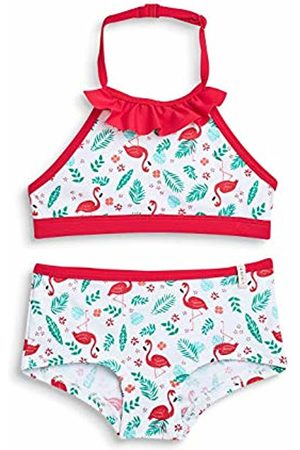 Esprit Girl's Flamingo Beach Mg Neckh + Hotpant Swimwear Set