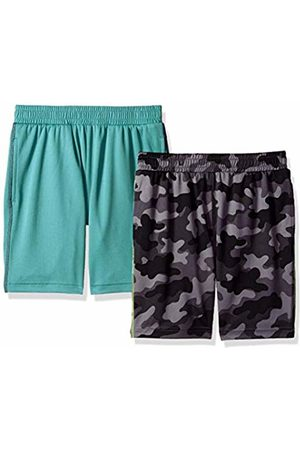 Spotted Zebra 2-Pack Active Mesh Shorts Camo/Teal