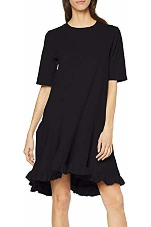 Lost Ink Women's T Shirt Dress with Ruffle Hem 0001