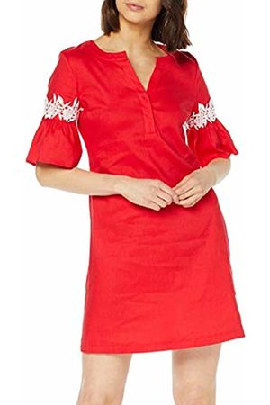 Taifun Women's 380028-11090 Dress (Tomate 60119) 10 (Size: 36)