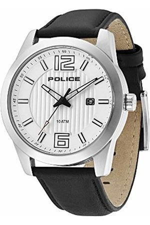 Police Trophy Men's Quartz Watch with Dial Analogue Display and Leather Strap 13406JS/04