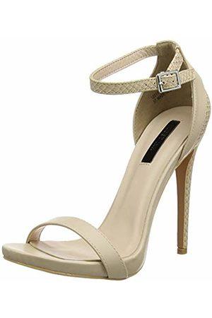 Lost Ink Women's RAE Stiletto Barley There Heeled Sandal Open Toe Heels