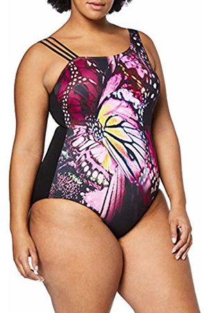 Ulla Popken Women's's Badeanzug Schmetterling1, Große Größen Swimming Costume
