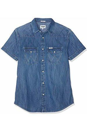 Wrangler Men's Ss Western Shirt Denim
