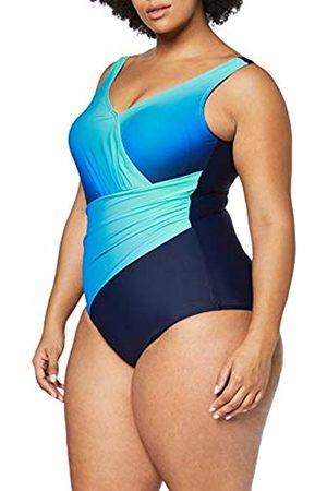 Ulla Popken Women's Badeanzug Farbverlauf, Große Größen Swimming Costume, ( 71)