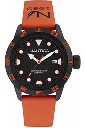 Nautica Mens Analogue Quartz Watch with Silicone Strap NAI10077G