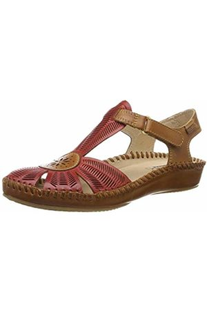 Pikolinos Leather Flat Sandals P. Vallarta 655 Coral