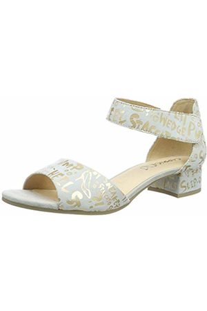 Caprice Women's Carla Ankle Strap Sandals (Offwht Letters 180) 5 UK