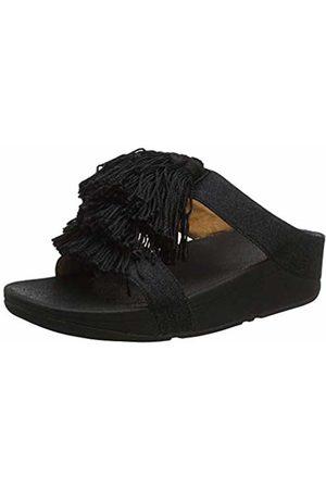 FitFlop Women's Silk Tassel FINO H Slide Open Toe Sandals 001