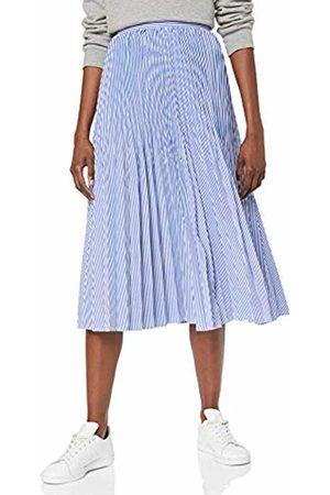 Tommy Hilfiger Women's Daisy MIDI Skirt Blau (Ithaca Pleat STP/Deep Ultramarine 518)