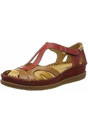 Pikolinos Leather Flat Sandals CADAQUES W8K Coral