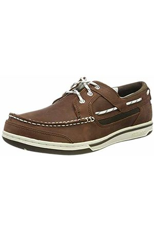 SEBAGO Men's Triton Three Eyelets NBK Boat Shoes, Dark 983